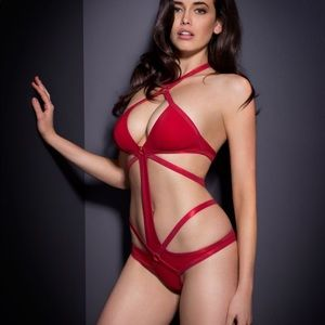 Agent Provocateur Shelby Swimsuit in Red
